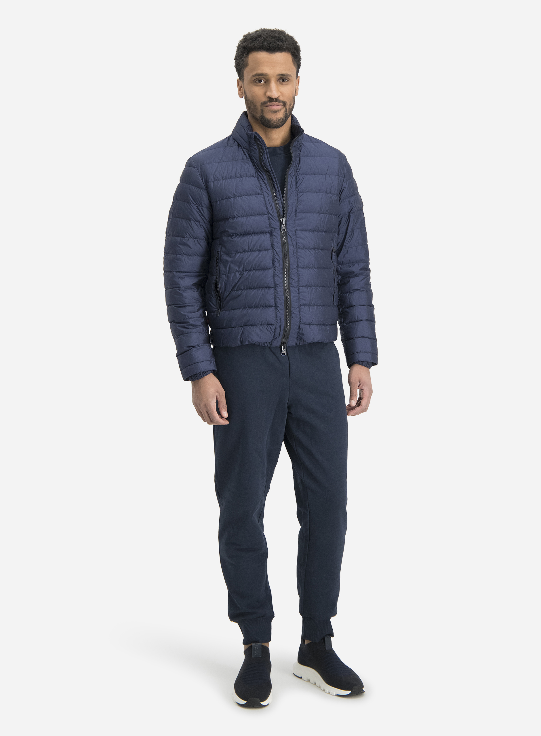 The Blue Woolrich Look