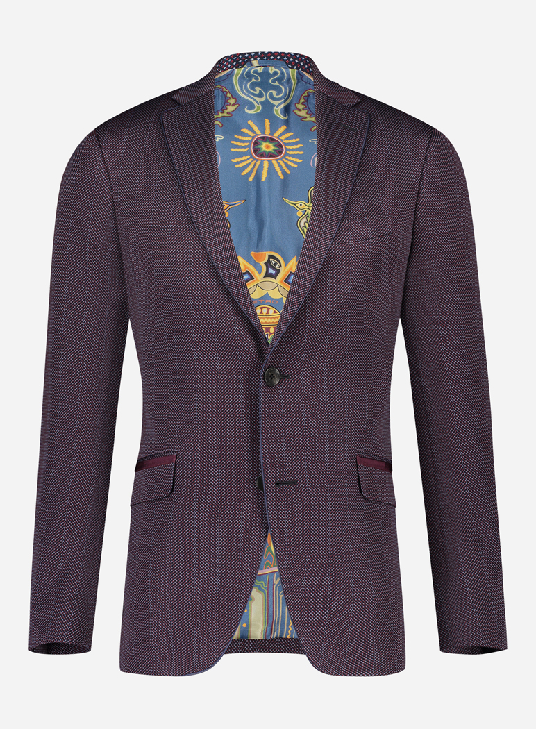 Etro Slim-fit wollen jasje Bordeaux