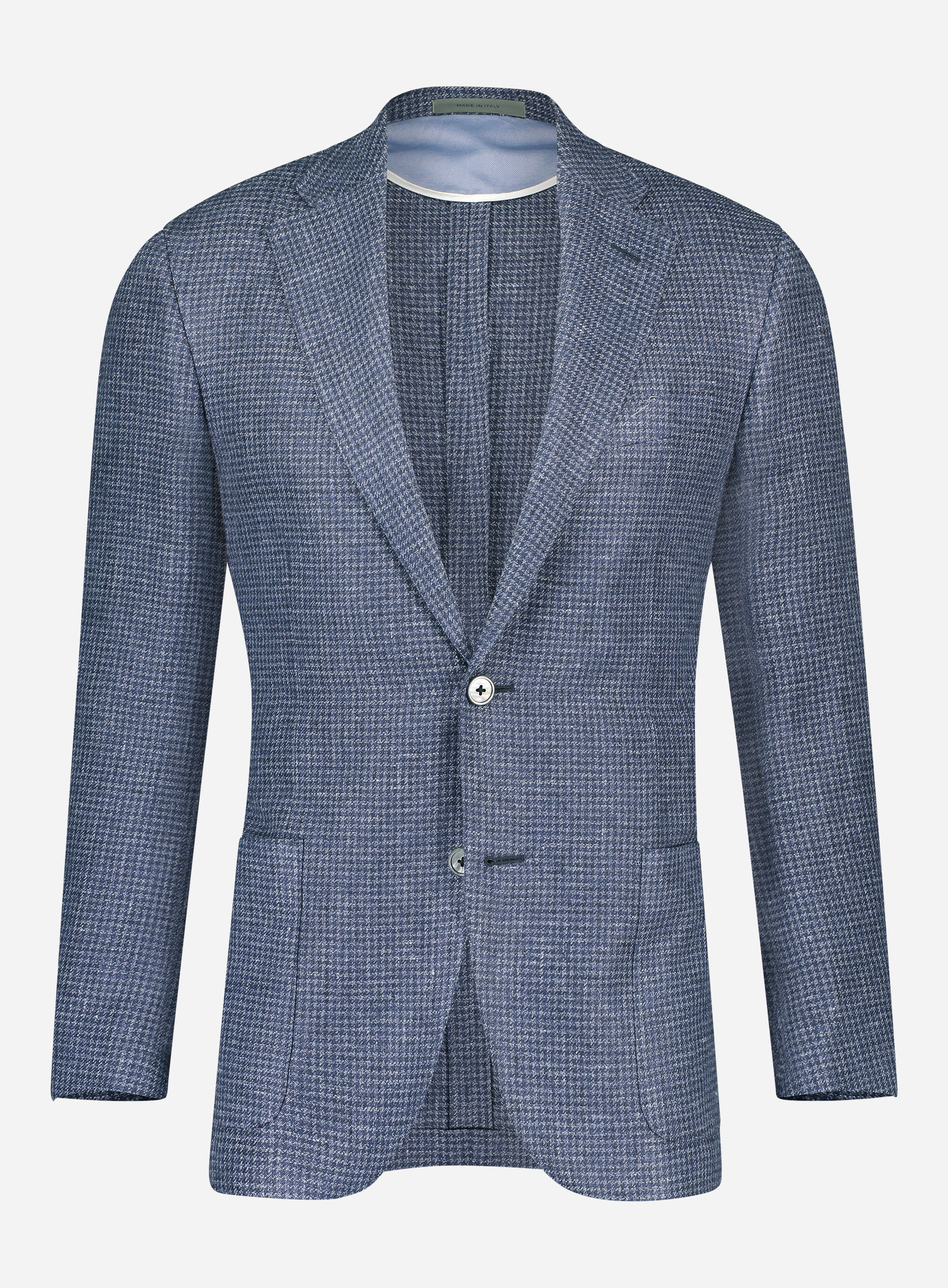 Corneliani Regular-fit jasje in linnen-wol blend Blauw