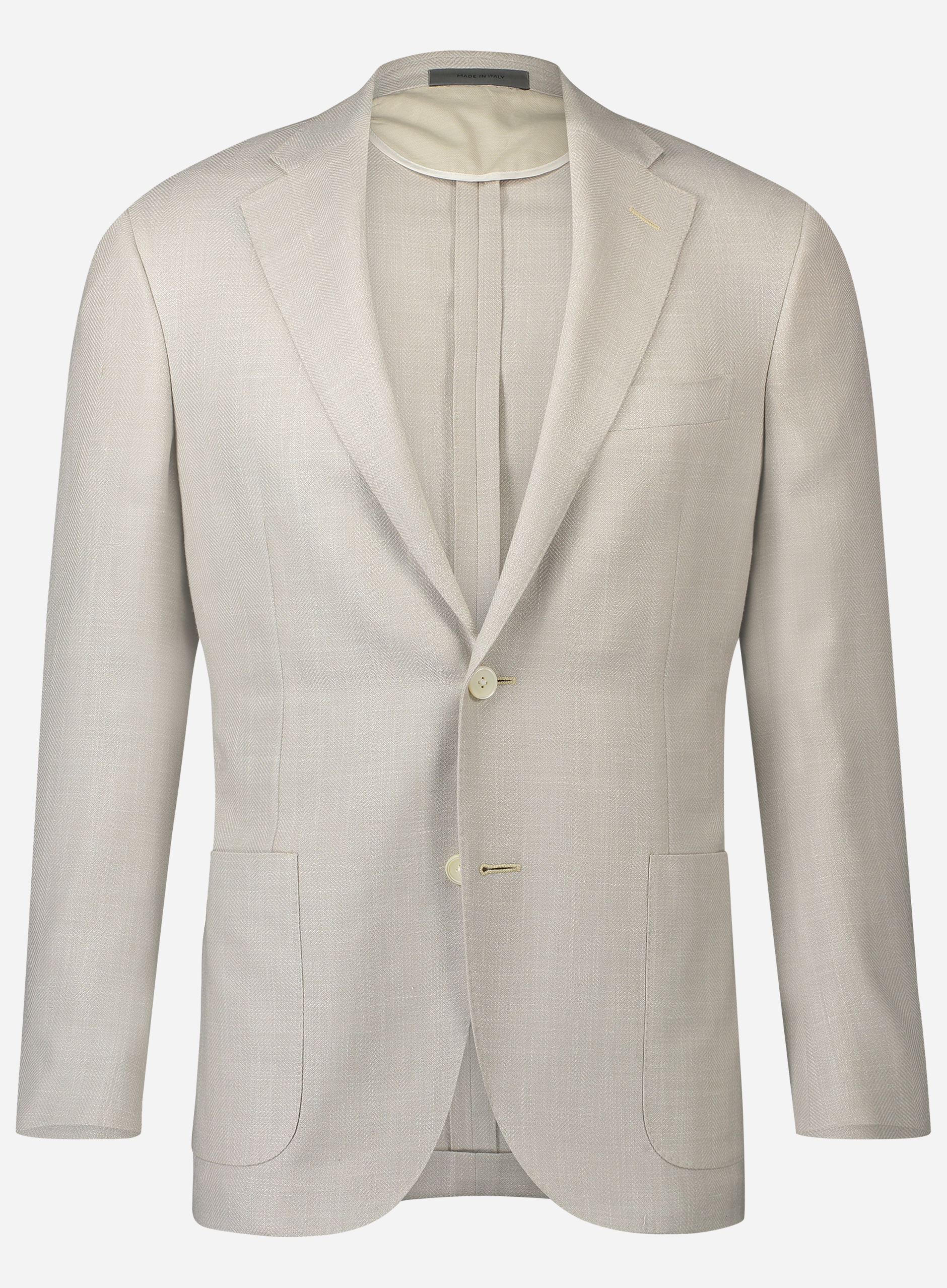 Corneliani Regular-fit jasje in wol-zijde-linnen blend Off-white