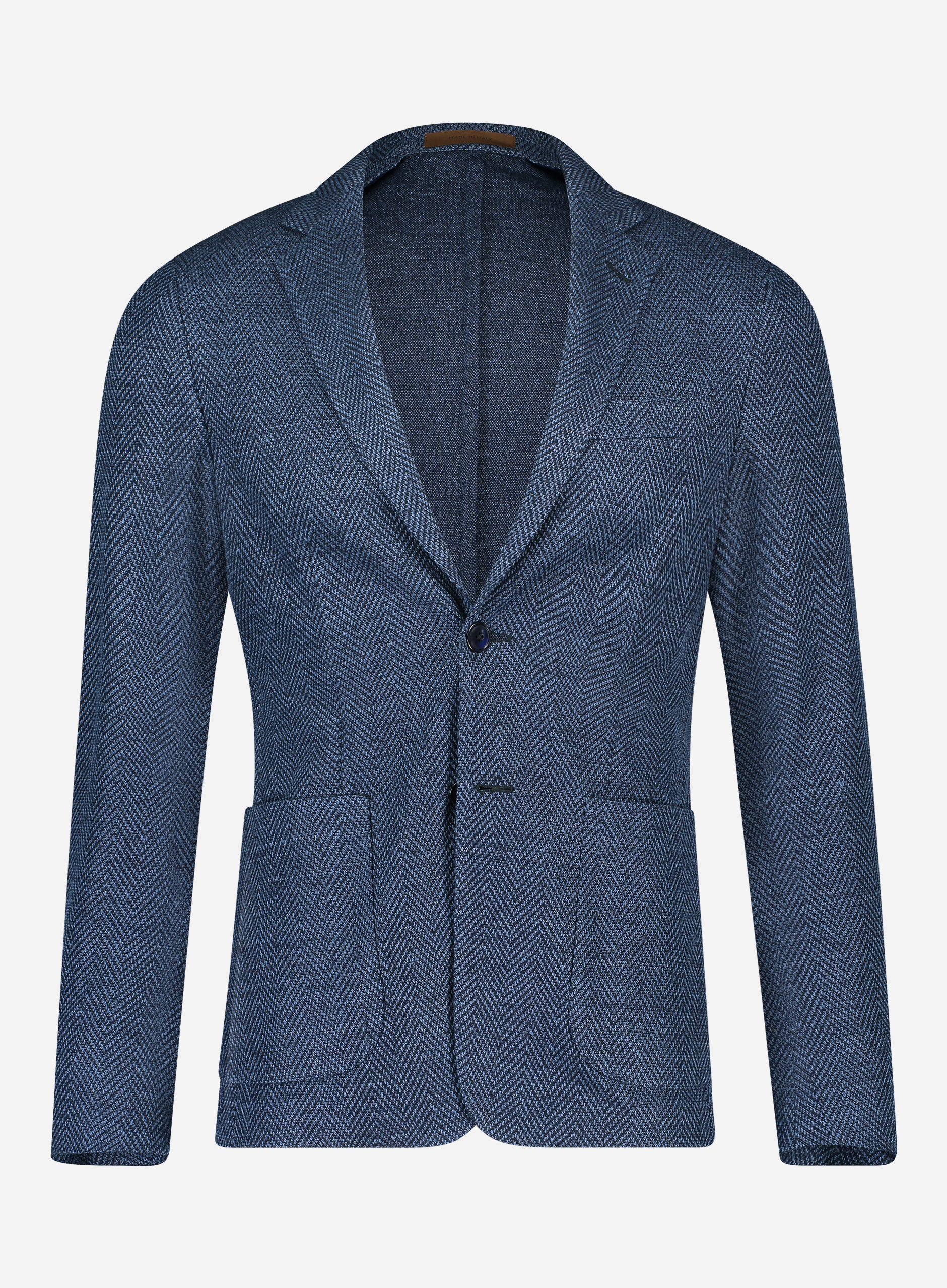 Corneliani Slim-fit ID jasje in linnen-wol blend Marine