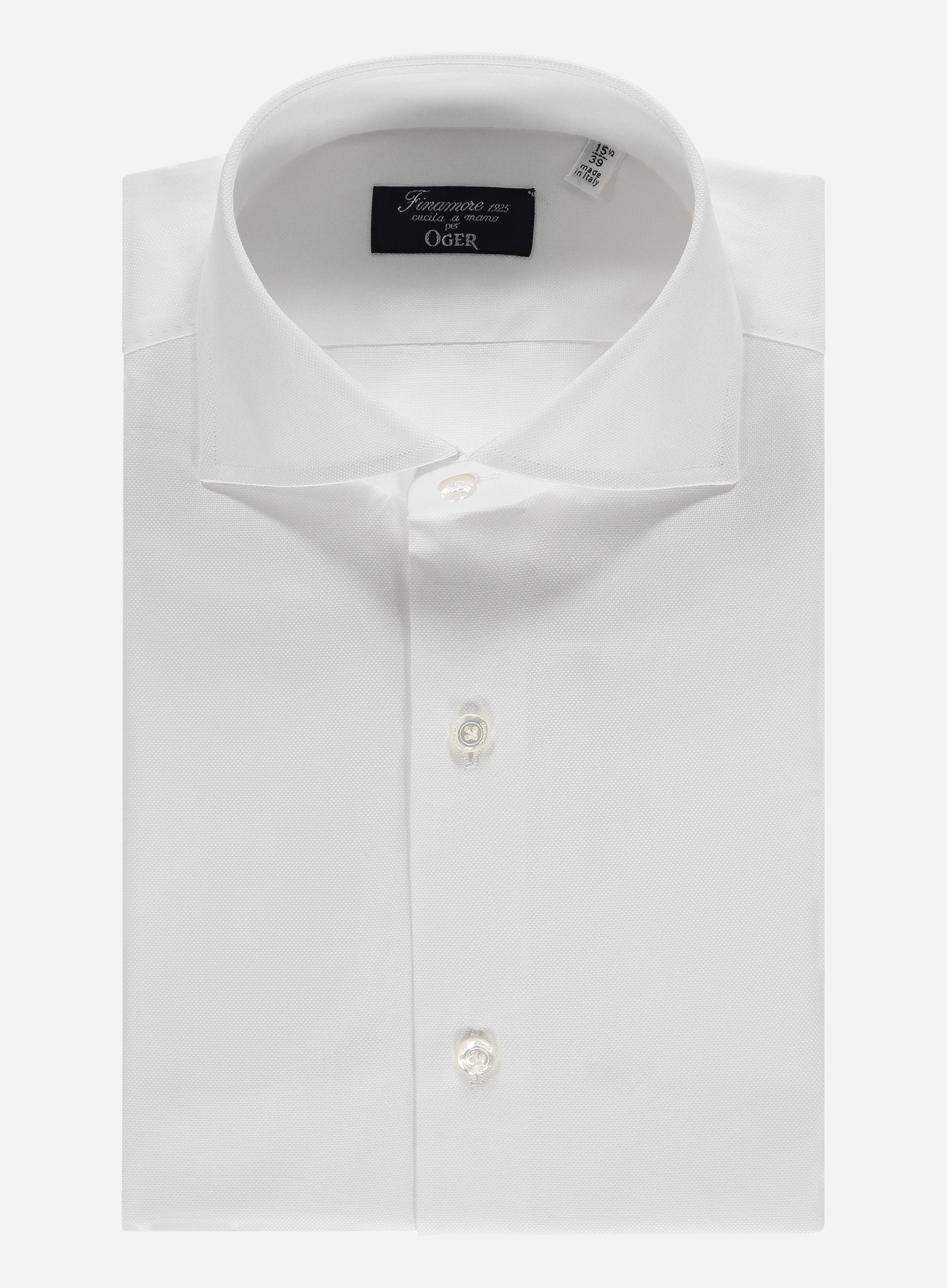 Finamore Regular-fit oxford overhemd Wit
