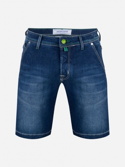 Slim-fit korte denim broek 'J6613'