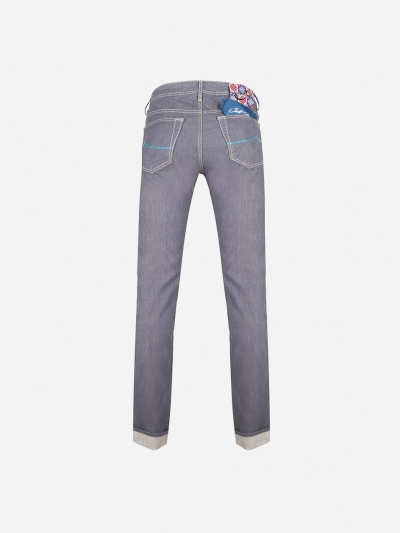 Regular-fit J620 jeans in stretch-cotton