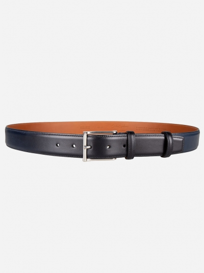 Leather belt with colour gradient