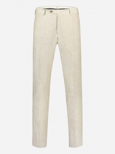 Regular-fit pantalon in linnen