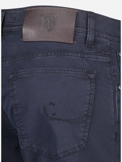 Slim-fit ID 5-pocket in stretch-katoen