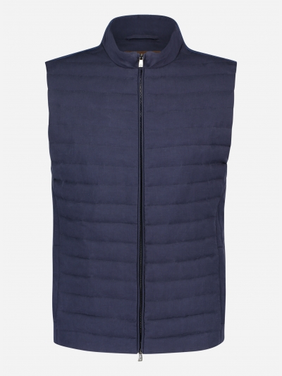 Regular-fit linnen-zijde bodywarmer
