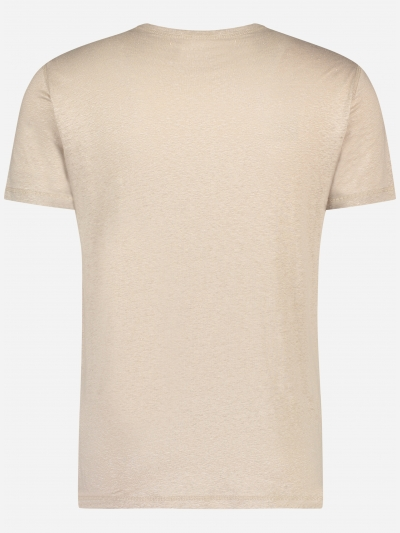 slim-fit T-shirt in stretch linnen
