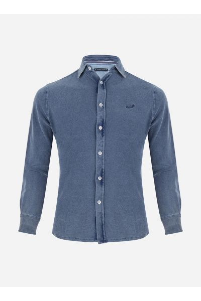 Slim-fit casual flannel overhemd
