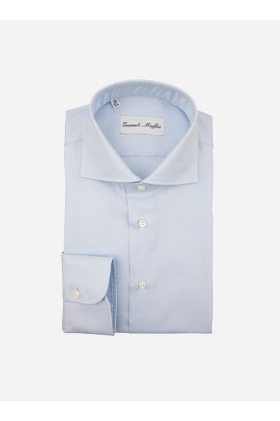 Wide-fit oxford shirt met wide-spread boord 'Aosta'