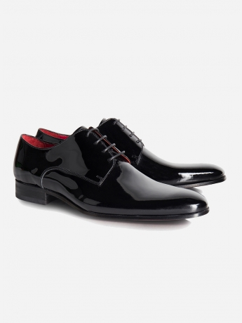 Patent leather shoes - tuxedo set