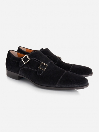 Suede double monkstrap 'William'