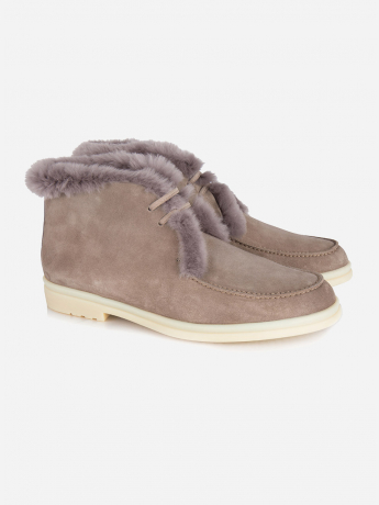 Fur lined suede 'Walk and Walk' boots