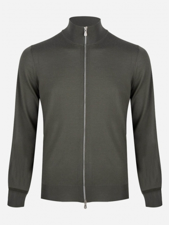 Regular-fit cashmere-wol ritsvest