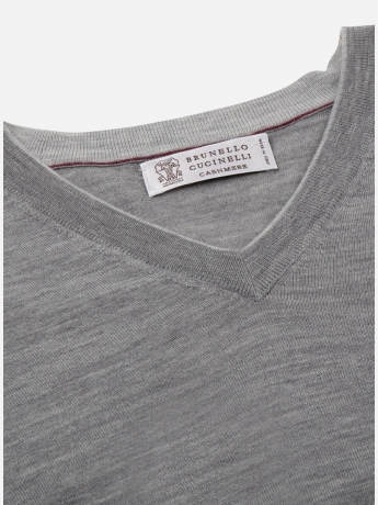 Regular-fit V-hals wol-cashmere trui