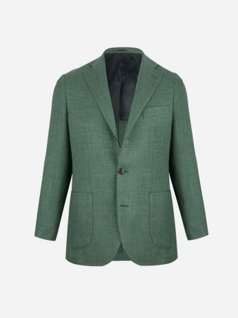 Slim-fit wool-silk-linen blazer