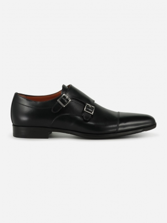 Leather double monkstrap shoes 'William'