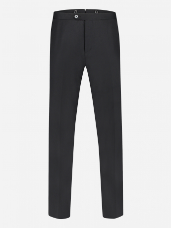 Wollen regular-fit smoking pantalon