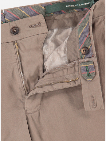 Slim-fit stretch-katoen chino