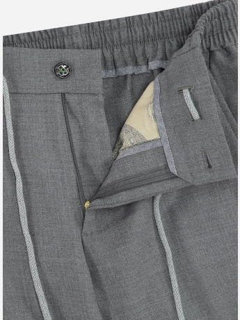 Slim-fit pantalon in wol-blend