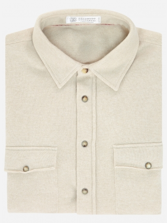 Regular-fit wol-cashmere-zijde overshirt