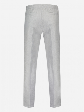 Virgin wollen tapered-fit pantalon