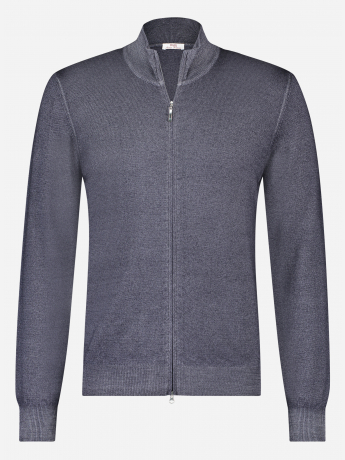Slim-fit virgin wollen ritsvest