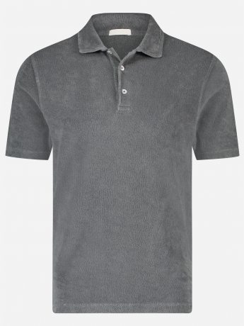 Slim-fit polo in badstof