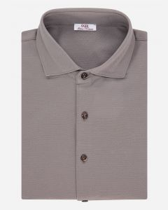 Slim-fit lange mouwen shirt polo