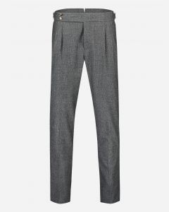 Wollen tapered-fit Glencheck pantalon