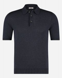Slim-fit zijde polo