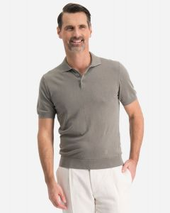 Regular-fit polo in stretch-katoen