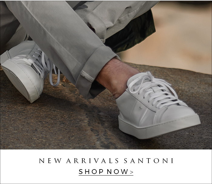 Shop the newest Santoni shoes for men. Monk shoes, sneakers and men shoes of Santoni are available.
